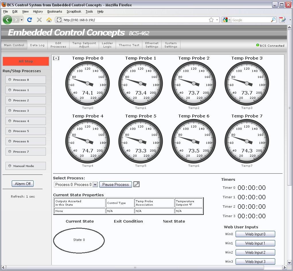 BCS-460/462 Screenshots | Bcs 460 Wiring Diagram |  | Embedded Control Concepts